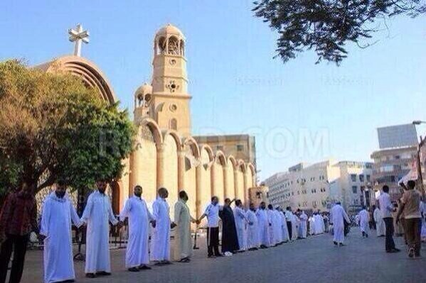 Muslims protecting church in Egypt