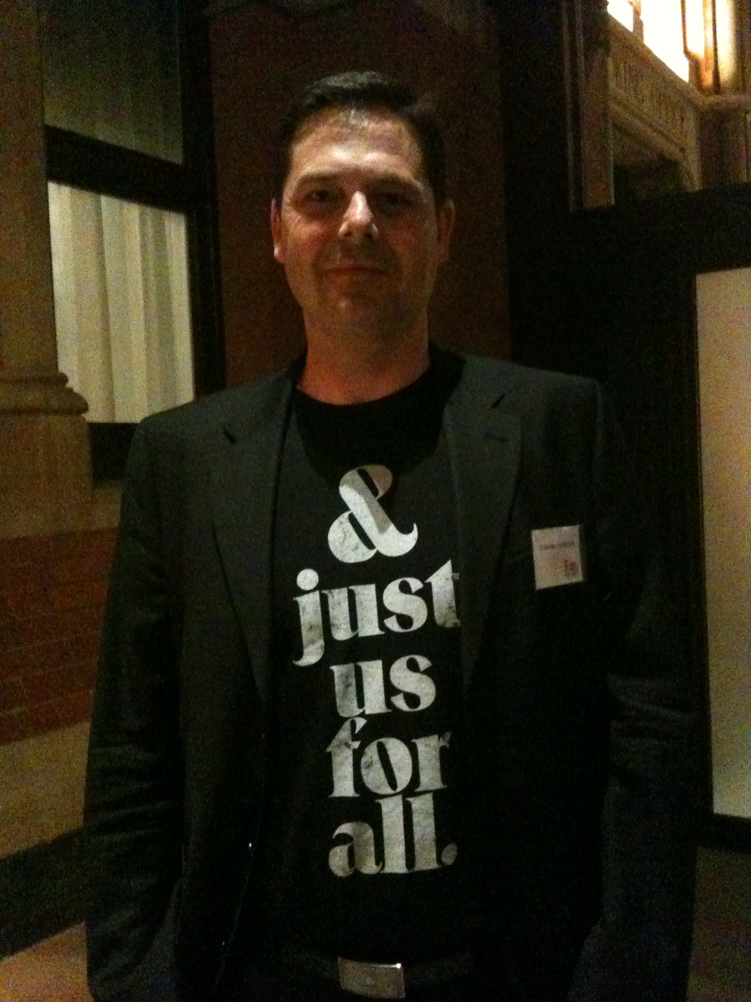 Graeme in And just us for all t-shirt